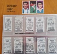 1958 SET Bobby Charlton Jimmy Greaves rookies and all 50 Cadet Sweets upside-down footballers